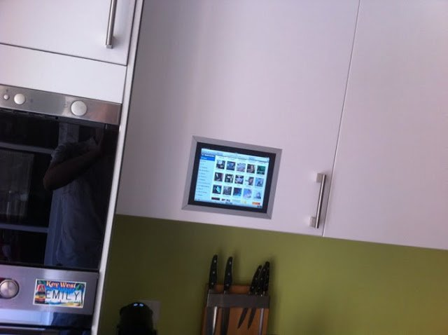Ipad Flush Mounted In Kitchen Cabinet Ikea Hackers