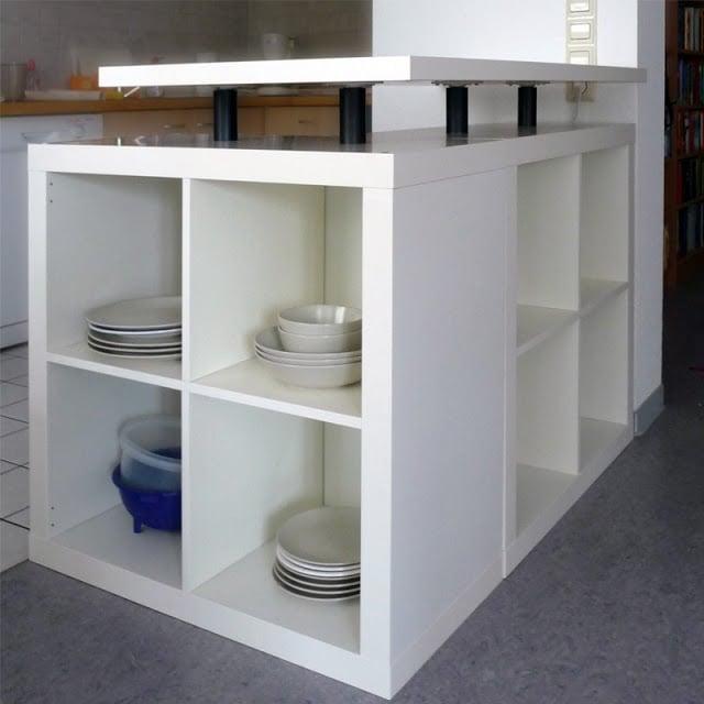 Ikea Ilot Cuisine: L-Shaped Expedit Kitchen Island