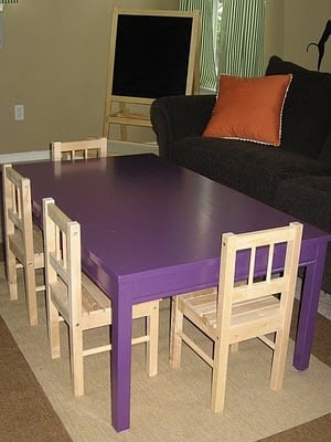 super easy kid 39 s table hack ikea hackers ikea hackers