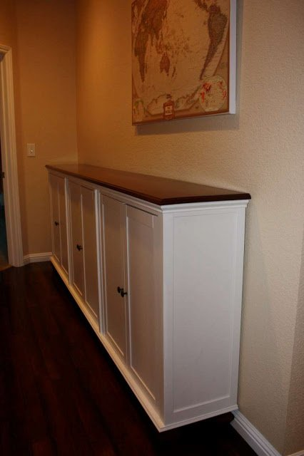 Hemnes add on unit transformed into console ikea hackers for Ikea hall table