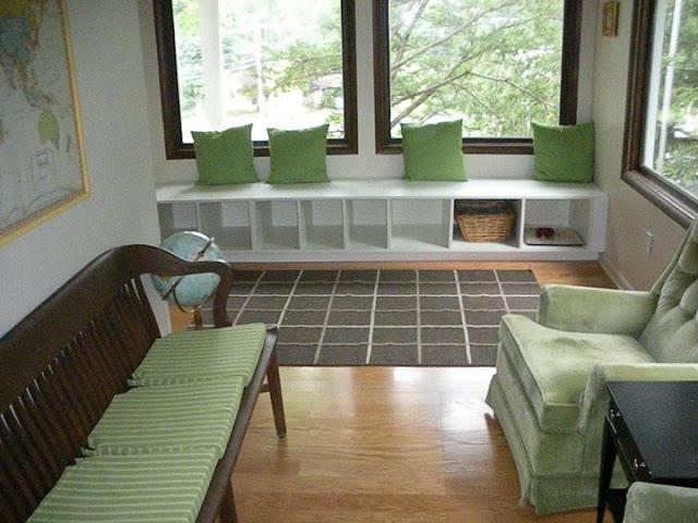 Akurum Pantry And Base Into Window Seat Ikea Hackers