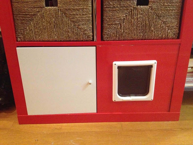 Expedit Shelving Unit Total Kitty Litter Disguise Ikea