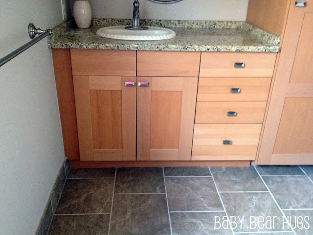 ordinary Using Kitchen Cabinets In Bathroom #8: Ikea Kitchen made into u0026#39;customu0026#39; Bathroom Vanity