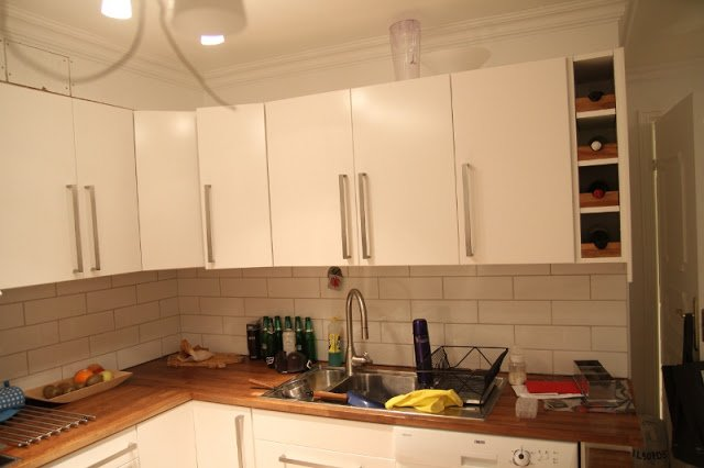 Fit A Faktum Wine Rack Into Kitchen Cab Gap Ikea Hackers