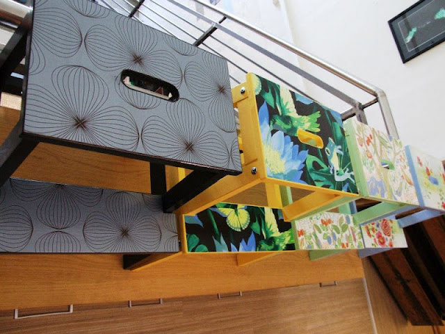 wallpapering bathroom cabinets