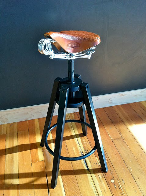 Dalfred Stool With Brooks Saddle Ikea Hackers