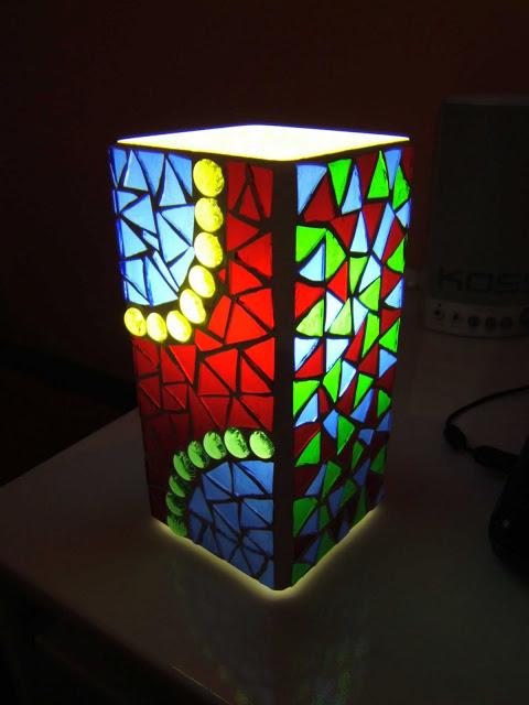 A Grono Mosaic Lamp Ikea Hackers