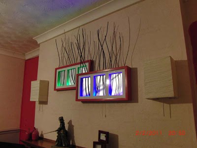 Torked-out Multi-Ribba Technicolour Backlit Feature Frame - IKEA Hackers