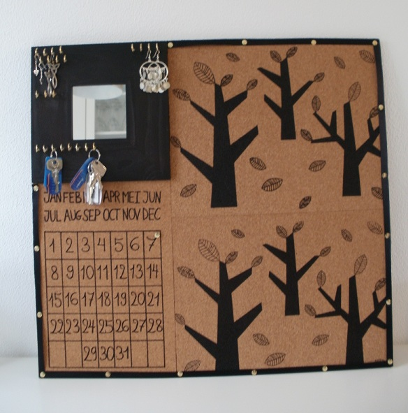 Catch all corkboard calendar ikea hackers ikea hackers for Ikea cork board