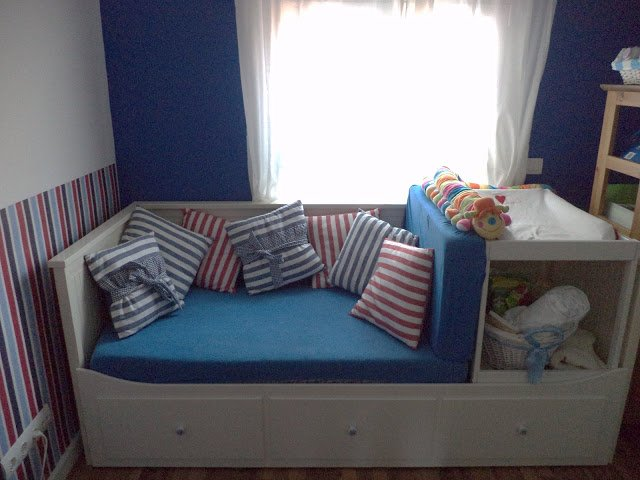 Guest Bed Makes Space For Baby Changing Table Ikea