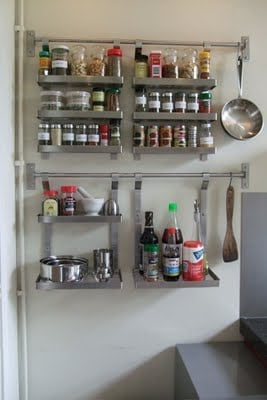 Spice up your grundtal racks ikea hackers for Kitchen drying rack ikea
