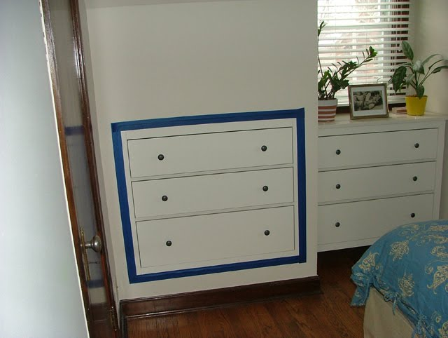 brand new 2ad29 55571 Space-Saving Three-Drawer Chest Inset Into Plasterboard Wall ...