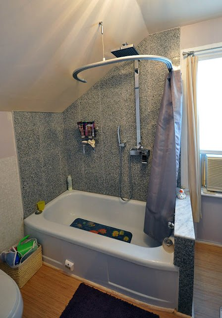 Kvartal Shower Curtain For Dormered Bathroom Ikea