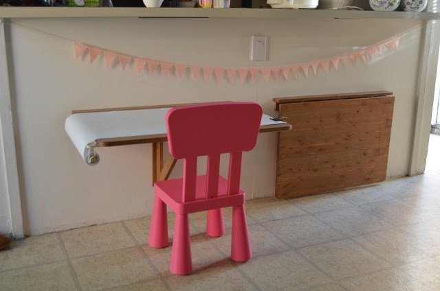 A Pair Of Norbo Drop Leaf Tables Become An Art Table And A Dinner Table For  Toddlers