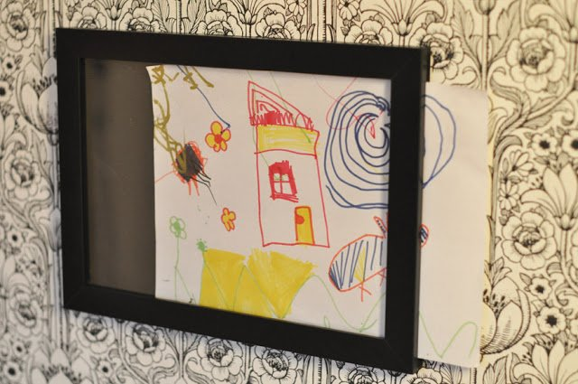 Frame Holder For Kids Drawings Ikea Hackers Ikea Hackers