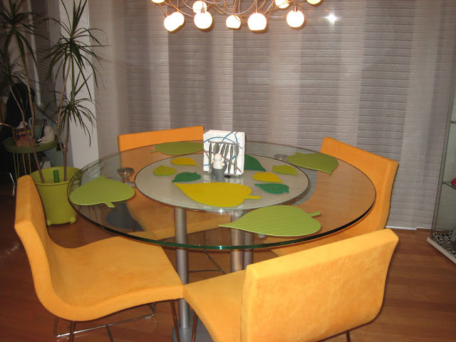 Leaf Shaped Place Mats For Round Dining Table Ikea