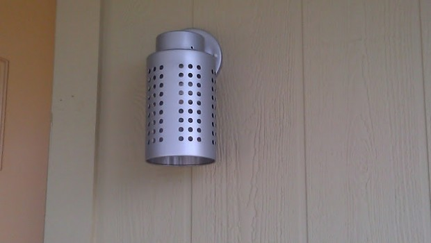 Utensil Holder Becomes Exterior Light Ikea Hackers