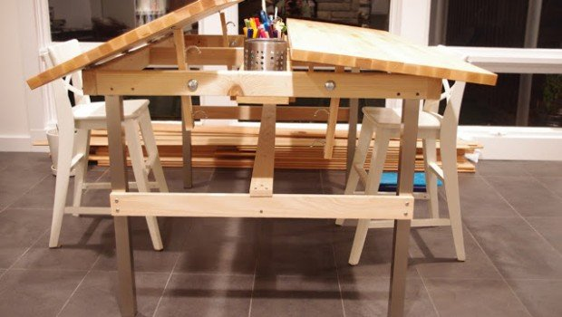 Multi Kid Drafting Table Ikea Hackers Ikea Hackers