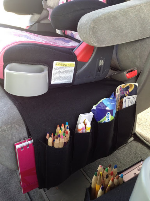 Flort turned into Car Organizer for Kids - IKEA Hackers
