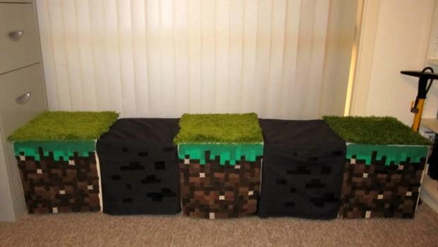 Minecraft Inspired Window Seat Stools Ikea Hackers Ikea Hackers