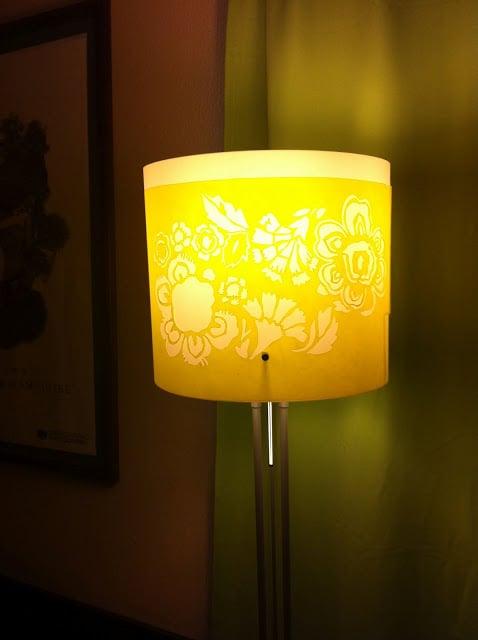 Paper Cut Lamp Ikea Hackers