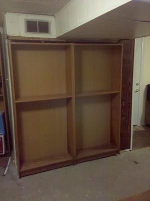 Billy Bookcase Door Hides Furnace Or Closet Or Secret Room.