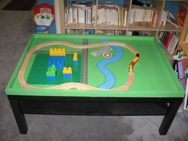 Super Cool Lego And Train Table Ikea Hackers