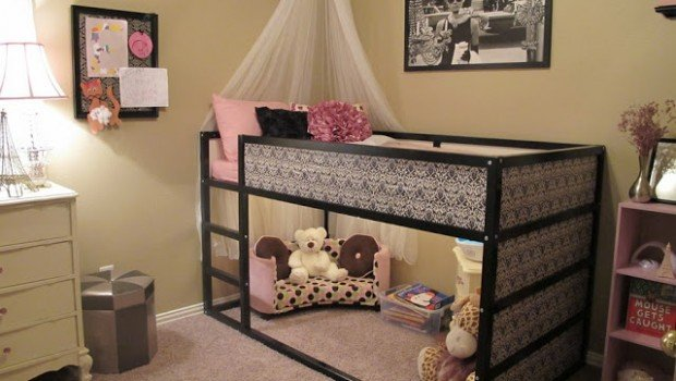 girly kura bed hack ikea hackers ikea hackers. Black Bedroom Furniture Sets. Home Design Ideas
