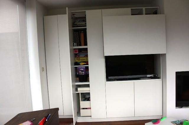 lift door faktum for tv ikea hackers ikea hackers. Black Bedroom Furniture Sets. Home Design Ideas