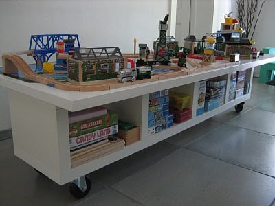 the dreaded kids train table with a new twist ikea hackers. Black Bedroom Furniture Sets. Home Design Ideas