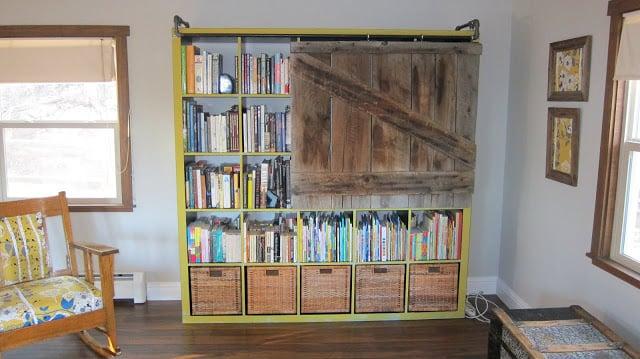 Expedit Bookshelf Turned Rustic Tv Cabinet Bookshelf