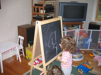 Dual Side Chalkboard Easel Ikea Hackers