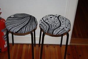 It S Black It S White Pimping Up Ikea Basic Stools