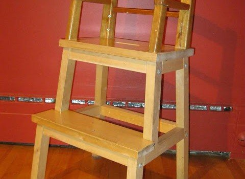 Bekvam Stool Turned Into Chair For A Child Ikea Hackers