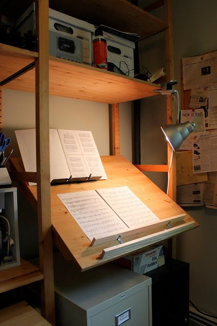 Ivar stand up music cueing desk drafting table ikea for Ikea stand up pupitres