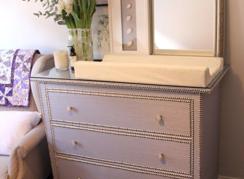 glamorous girly change table ikea hackers ikea hackers. Black Bedroom Furniture Sets. Home Design Ideas