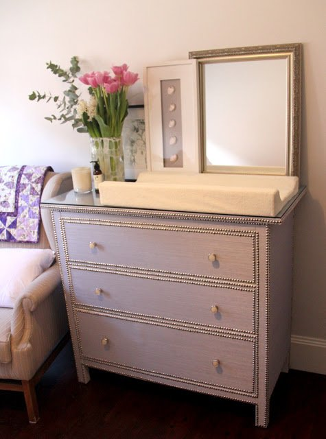 Ikea Shelves Hemnes Daybed In A Boys Bedroom: Glamorous Girly Change Table