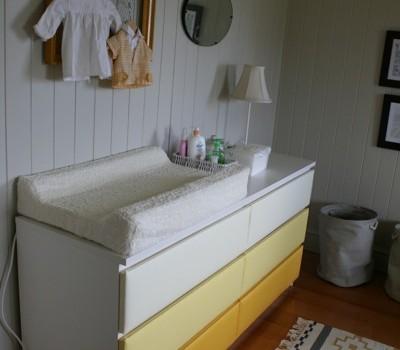 Ikea Malm Drawers Change Table Nursery Upholstery Makeover