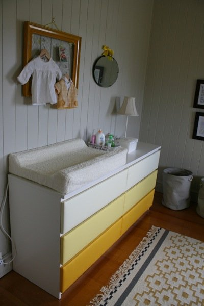 ikea malm drawers change table nursery upholstery makeover ikea hackers ikea hackers. Black Bedroom Furniture Sets. Home Design Ideas