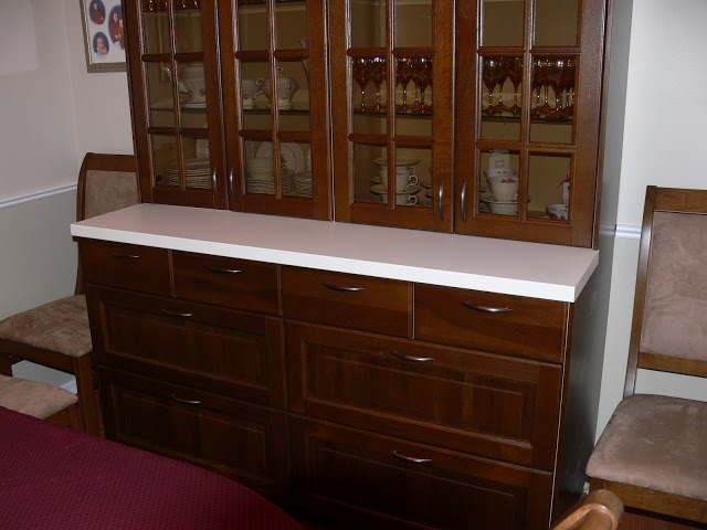 with liljestad dark brown drawers doors and cover panels the counter surface is a pragel white counter tools required include a jig saw and a table