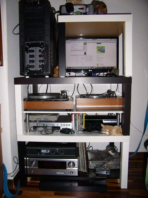 Rack for your pc hi fi system ikea hackers ikea hackers - Mobile hi fi ikea ...