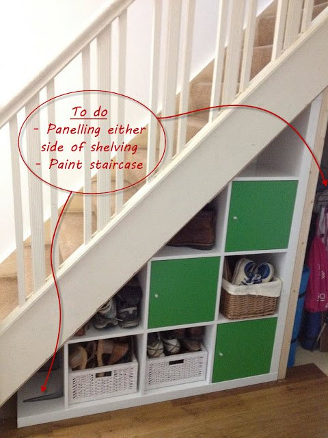 Expedit under-stairs storage