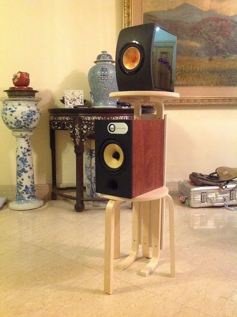 Frosta Dual Speaker Stands Bar Table Ikea Hackers