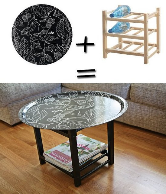 tray table ikea hackers ikea hackers. Black Bedroom Furniture Sets. Home Design Ideas