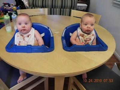 The Ultimate Twin Highchair Ikea Hackers