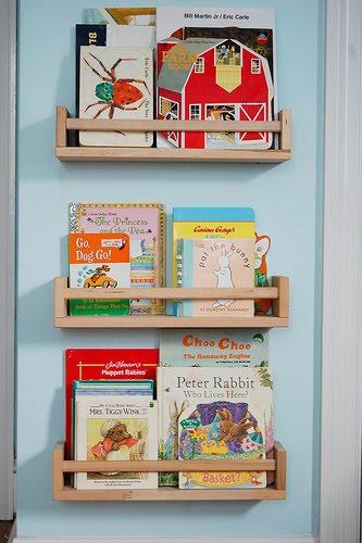 Repurposing Spice Racks Into Childrens Bookshelves IKEA Hackers - Childrens bookshelves