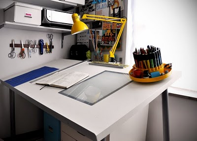 Make a diy drafting table from an ikea desktop ikea hackers ikea hackers - Drafting desks ikea ...