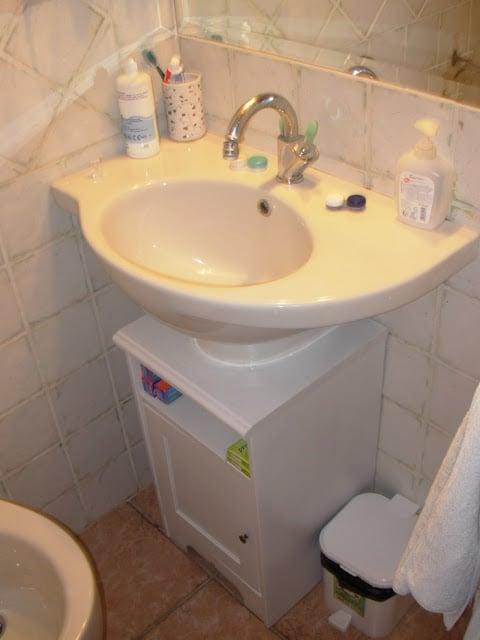 Aspelund Bedside Table Into Sink Cabinet Ikea Hackers
