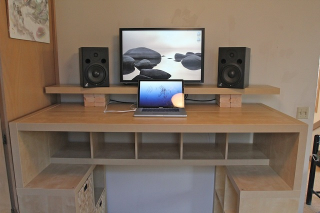 expedit standing desk ikea hackers. Black Bedroom Furniture Sets. Home Design Ideas