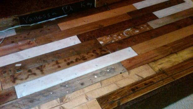 Wood Floors Using Sultan Lade Slatted Bed Base Ikea Hackers Ikea Hackers